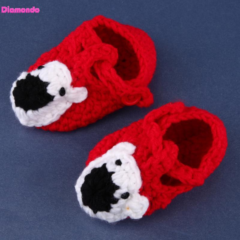 New Handmade Newborn First Walkers Infant Baby Boys Girls Crochet Knitted Shoes Cute Toddlers Indoor Floor Baby Prewalker 0-12M