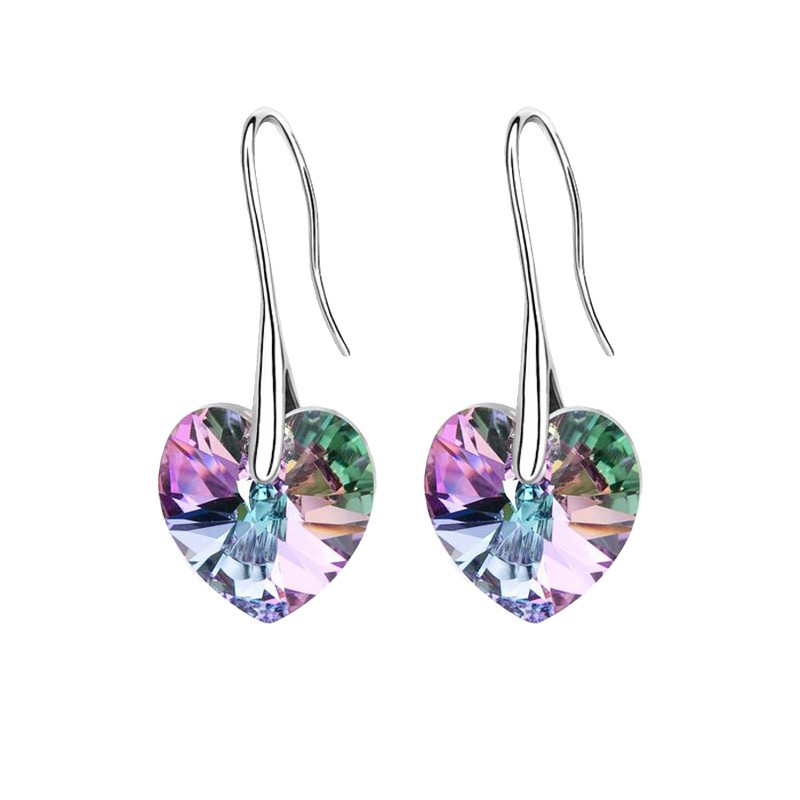 Crystal heart pendant eardrop earrings Made with SWAROVSKI ELEMENTS for 2016 Mother's Day women gift