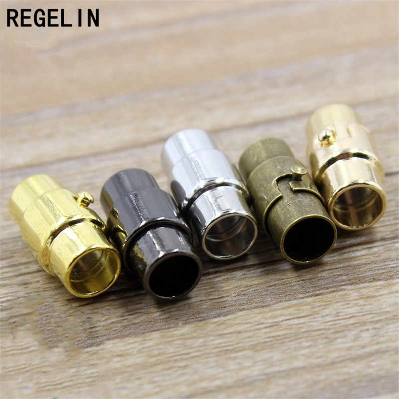 REGELIN Strong Magnetic Clasps for 3/4/5/6/8mm Round Leather Cord DIY Bracelets Connector Jewelry Making Findings