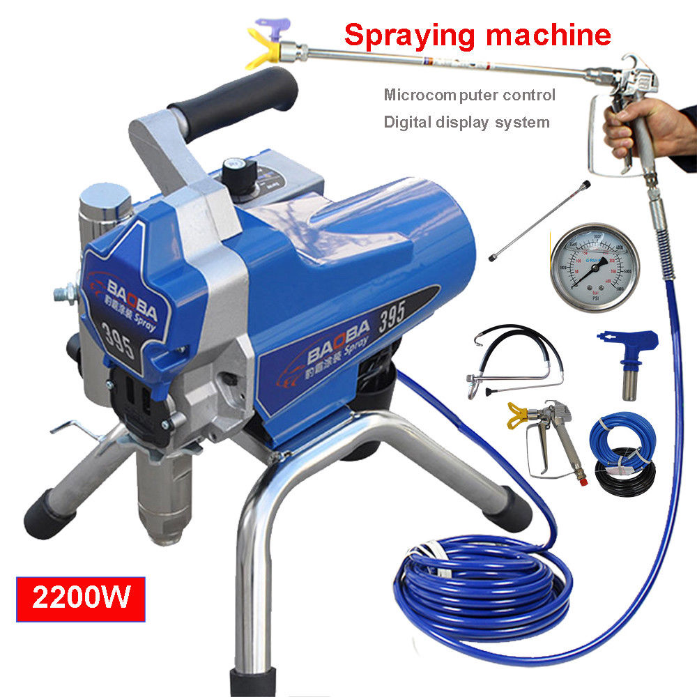 220V High Pressure Airless Wall Paint Spray Gun Sprayer Spraying Machine 500m2/h