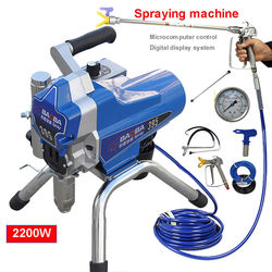 220V High Pressure Airless Wall Paint Spray Gun Sprayer spraying Machine 500m2/h