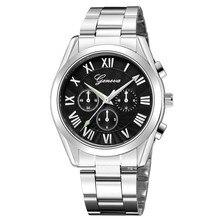 Men's Stainless Steel Case Band Wristwatches Quartz Analog Date Wrist Watch Men'