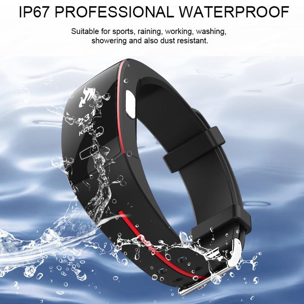 Hangrui P3 Heart Rate Tracker PPG ECG Smart Bracelet Blood Pressure Fitness Tracker Wristband Waterproof Sport Watch Wrist band (4)