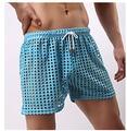Malla de Los Hombres Cortos Gay Pantalones Cortos Para Hombre Casual ropa de Dormir ver a través de Los Hombres Cortos de Malla Transparente Hombre Shorts Mens Sleep Bottoms