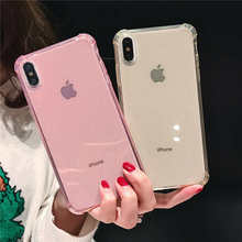 Luxury Glitter Shockproof Bumper Transparent Phone Cases For iphone X 8 7 Plus XS MAX XR 6 6S Case Silicone Soft TPU Cover