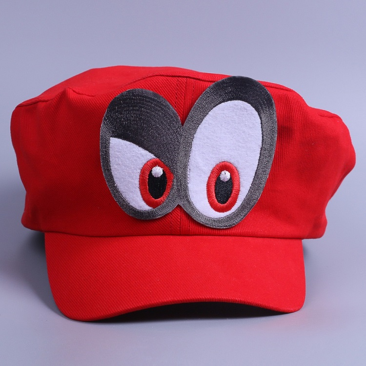 Game Super Mario Odyssey Cap Cosplay Red Mario Hat Adult Kids Anime Handmade New2
