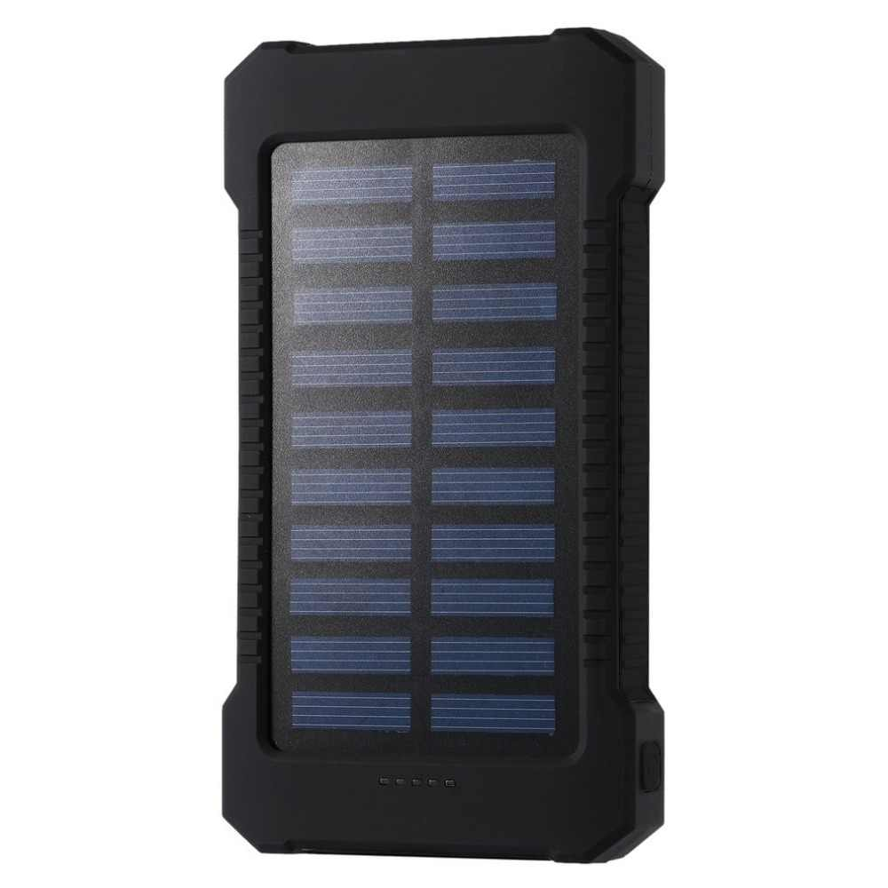 Solar Power Bank 30000mah Waterproof External Battery Backup Powerbank 30000 mah Phone Battery Charger LED Pover Bank Free Ship