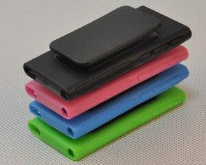 Image 4 - ハイブリッド TPU シリコーンケースアップルの Ipod Nano 7 保護ケース s 7th 世代 Nano7 7 グラムカバー Coques fundas とベルトクリップ黒