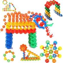 500 шт./упак. Строительные блоки Детская Пластик из АБС-пластика в форме снежинок Форма детские развивающие игрушки сборка красочные наборы для моделирования