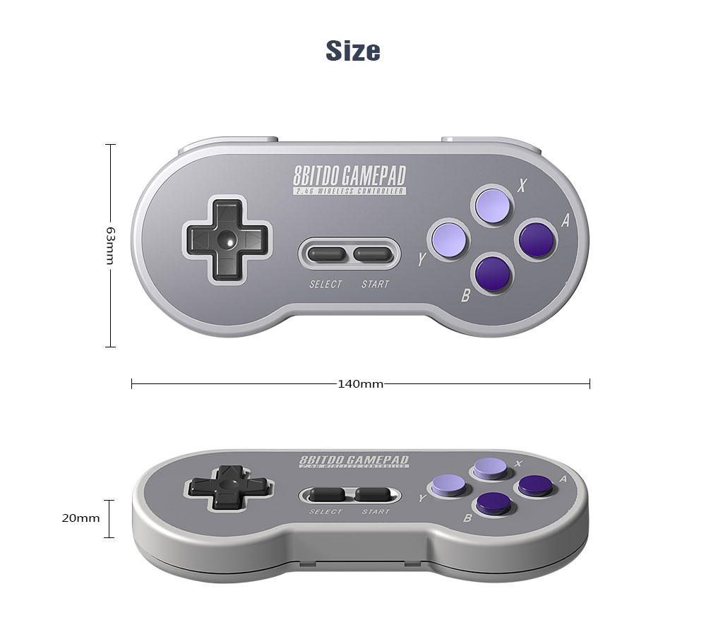 8BitDo SN30 Controller Wireless Gamepad with 2.4G NES Receiver for Windows Android PC Mac 13