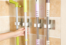 Wall tile sticking Mop Organizer Holder Rack Plastic wall mounted Brush swabber swob Handle grasp catch Holding Hook organizer