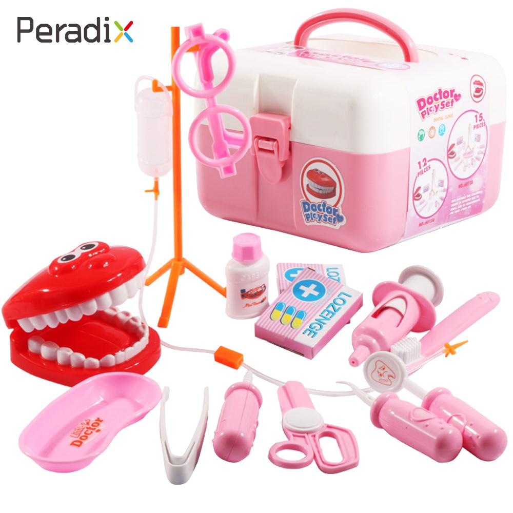 Plastic Medicine Set Toys Doctor Tool Model Simulation Doctor Toys Games Toy Set 2 Colors Funny