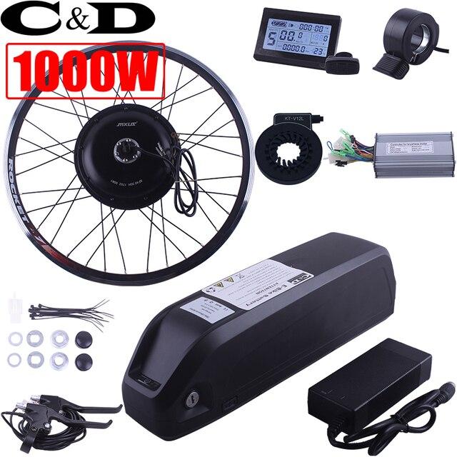1000W 48V 52 13AH 17AH E-bike Electric Bike Conversion kit XF39 XF40 30H Driect Drive Motor MXUS Hailong Battery LCD freehub