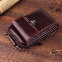 Genuine Leather Pouch Shoulder Belt Mobile Phone Case Bags For Xiaomi Redmi Note 4X Mi 5s
