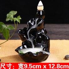 Incensory Buddha statue Incense cones Ceramic Censer Incense holder Burner Zen Backflow Incense burner smoke+10 Incense Cones