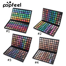 Popfeel 120 Color Professional Eyeshadow Palette Shimmer Matte Eye Shadow Makeup Contour Powder MakeUp Kit