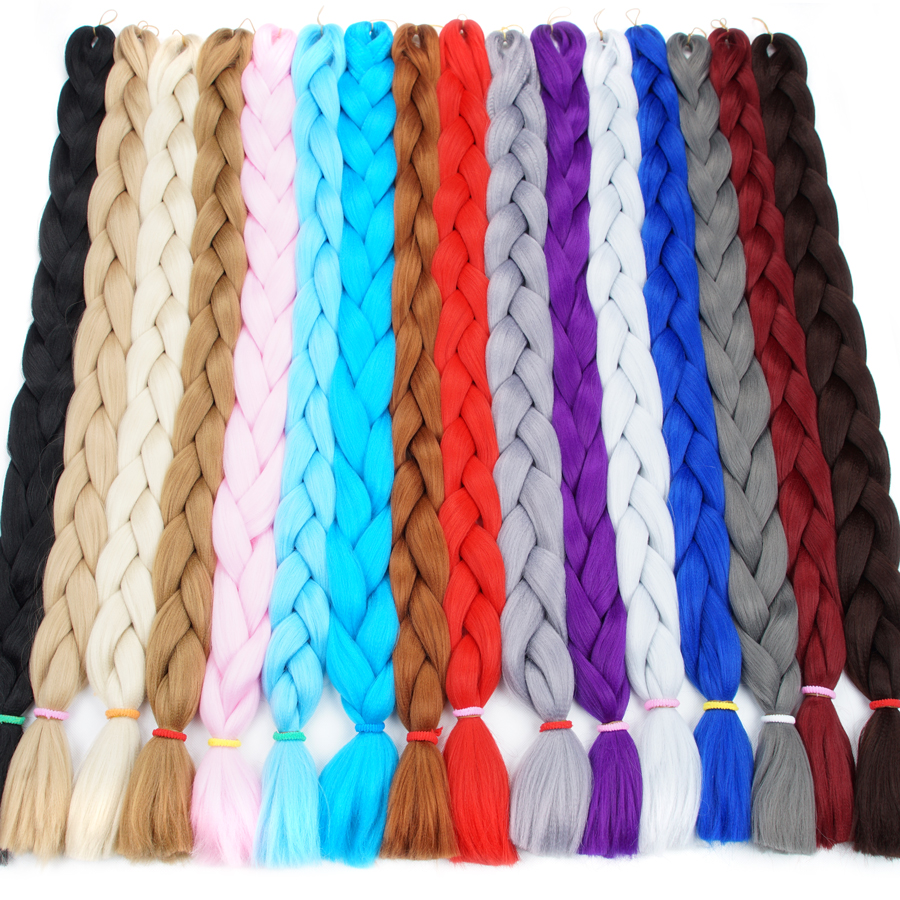 Bling Hair Braiding Hair Extensions Kanekalon 82inch 170g Jumbo