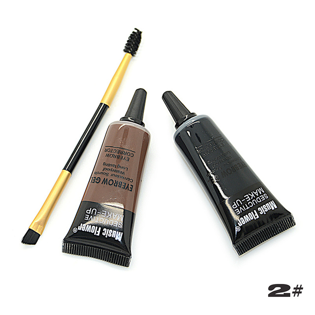 Music Flower Brand 2 Color Eyebrow Cream