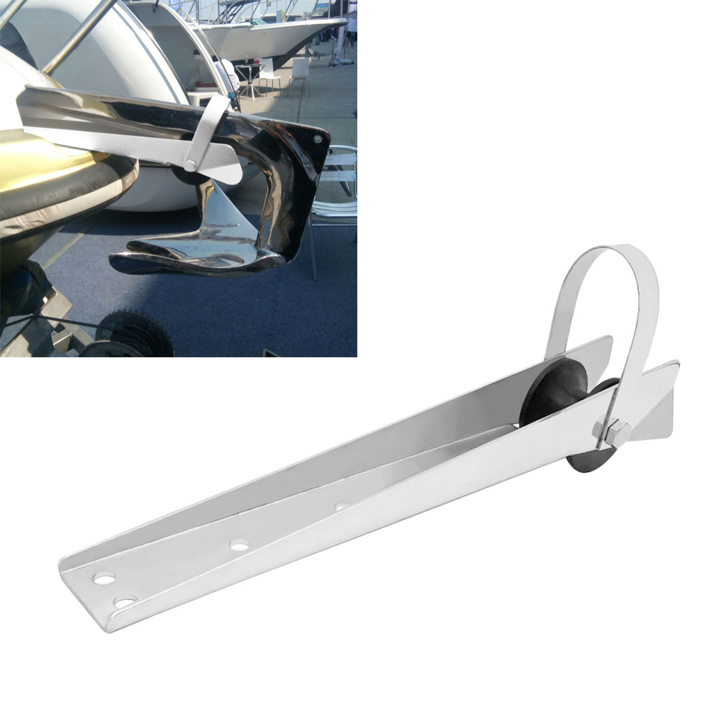 Universal Stainless Steel Boat Bow Anchor Roller Bracket 390mm Marine Yacht for Kayak Canoe Boat Replacement Accessories boat