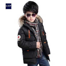 Warm Thickening Winter Fur Collar Child Coat Children Outerwear Windproof Baby Boys Girls Jackets For 5 8 10 12 Years Old