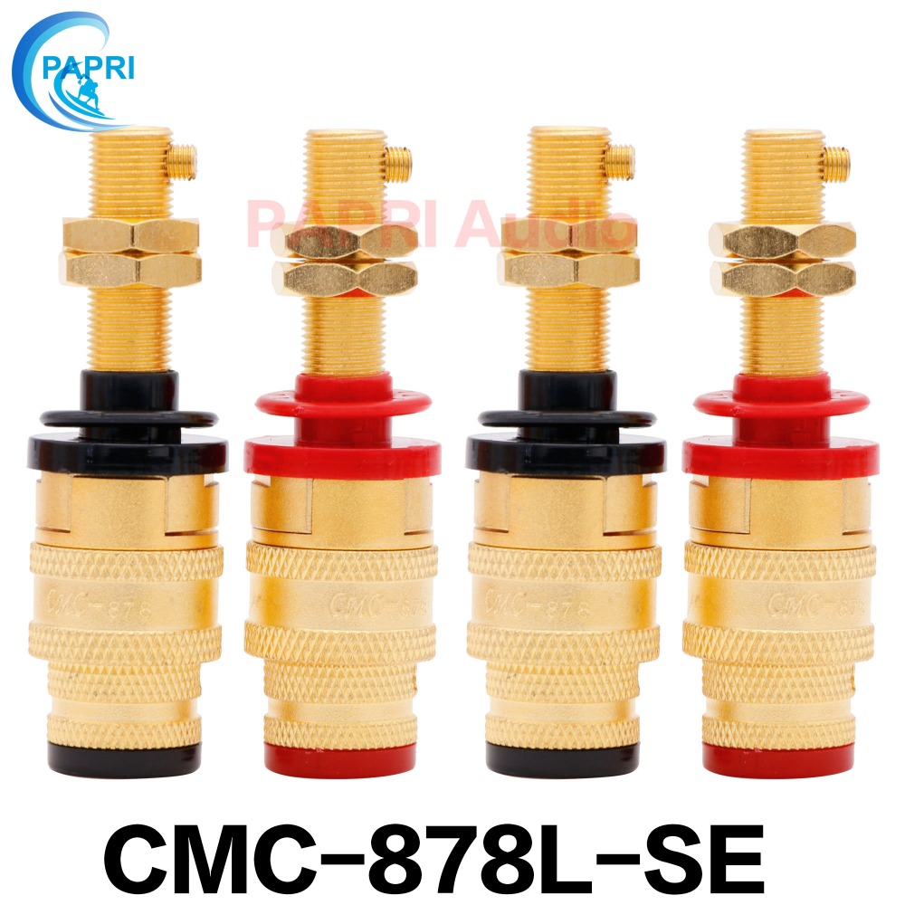 Consumer Electronics Careful 4pcs Cmc-878l-se Gold Plated Ofc Longer Binding Post For Y Style Fork Plug And Male Banana Plug Audio Speaker Cd Player Speaker