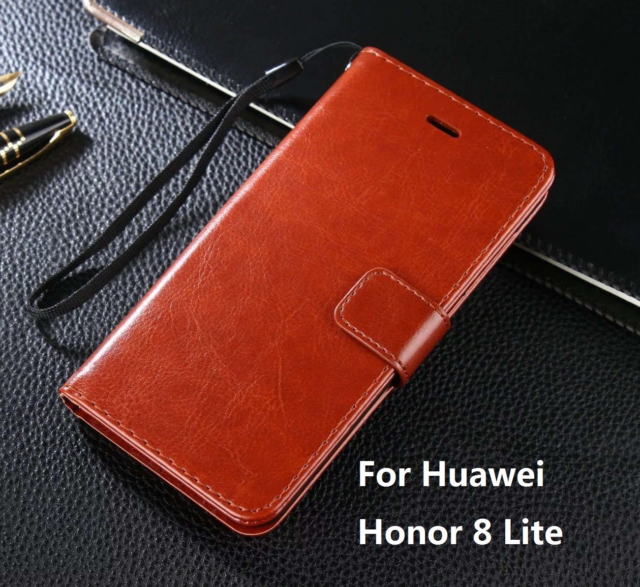 Case For Huawei Honor 8 Lite Luxury Wallet PU Leather Case Stand Flip Card Hold Phone Cover Bags For Honor 8 Lite