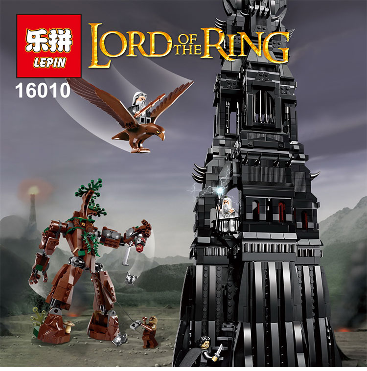 LEPIN 16010 2430Pcs Lord of the rings Lord of the rings Model set Building Kits Model Compatible legoed 10237 lepin 16018 756pcs genuine the lord of rings series the ghost pirate ship set building block brick toys compatible legoed 79008