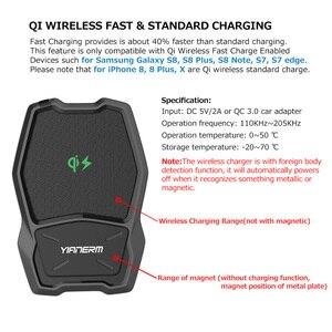 Image 2 - Yianerm magnetyczna bezprzewodowa ładowarka qi uchwyt samochodowy na telefon 10W szybkie bezprzewodowe ładowanie stojak na iphonea Xs Max 8 Plus Samsung Note 9