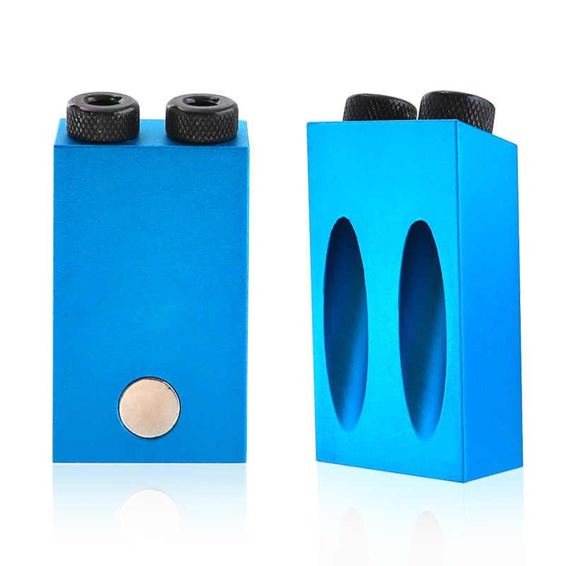 Plantilla de agujero de bolsillo reemplazable 6 8 10mm Guía de taladro magnético de la parte posterior