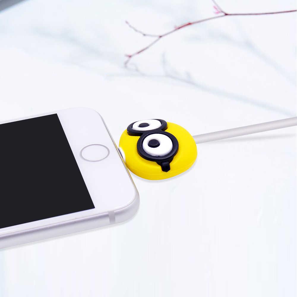 Chipal para tsum bonito mordida animal cabo protetor para iphone usb carregador de fio enrolador cabo organizador dos desenhos animados morde telefone titular