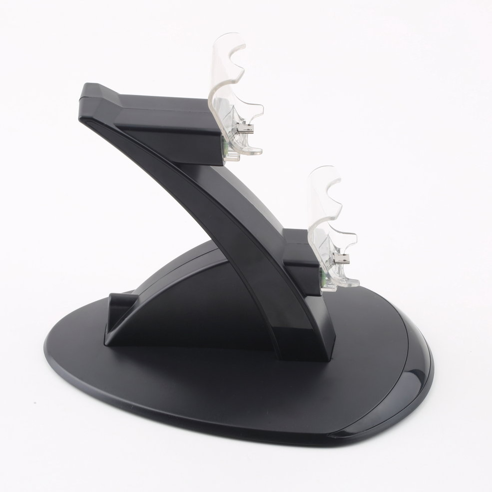 10PCS USB Charging Dock Station Stand for PS4 Controller Black Chargers PVC Dual temei usb desktop battery cell phone data charging dock station for samsung i9200 black grey