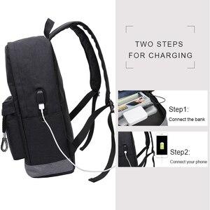 Image 3 - Kaka Nữ Casual Ba Lô Laptop Nam Sạc USB Chống Nước Nam Ba Lô Mochila Đen Schoolbag Ba Lô Túi Dành Cho Thanh Thiếu Niên