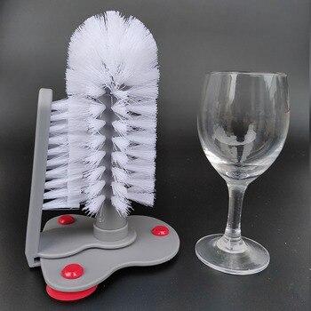 Стакан для щетки, стеклянные бутылочки с очистителем, мойка, присоска для очистки питьевой воды, скрубберная кружка, щетка для очистки вина, ...