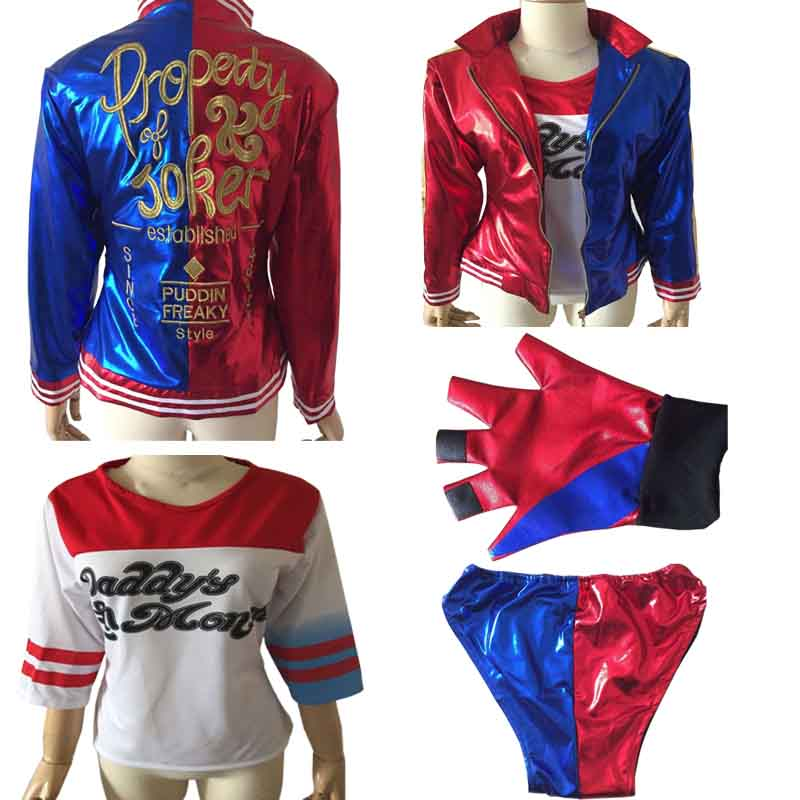 Online get cheap harley quinn costume - Disfraz joker casero ...