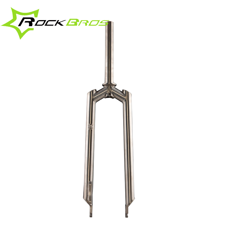 ROCKBROS Titanium Alloy MTB Mountain Bike  26 Rigid Fork Ti Straight Fork Cycling Bicycle Front Fork
