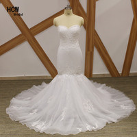 Mermaid Wedding Dress Strapless Off The Shoulder Lace Tulle Sexy Wedding Gowns 2018 Plus Size Long Bridal Dresses Cheap