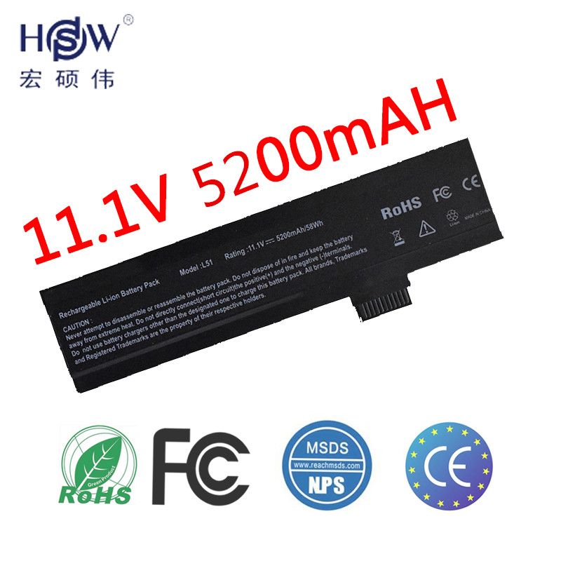 laptop battery for L51-3S4000-C1L1 L51-3S4000-G1L1 L51-3S4000-G1L3 L51-3S4000-S1P3 L51-3S4400-C1L3 L51-3S4400-G1L3