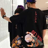 Dragon Ball camiseta Goku pareja top tee Vegeta hombres/mujeres naruto mejor amigo camiseta Dragonball Z camiseta dbz hijo de anime