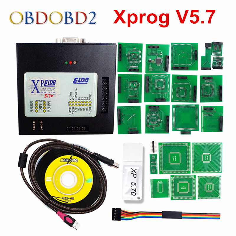 Xprog V5.70 XPROG-M V5.6 ECU Programmer FW 3.9 X-PROG M With USB Dongle Xprog 5.7 ECU Chip Tuning Tool XPROG-M 5.7 Full Adapters