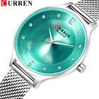 ★  CURREN женские часы роскошные платья с бриллиантами кварцевые часы женская мода часы подарок сетка и ✔