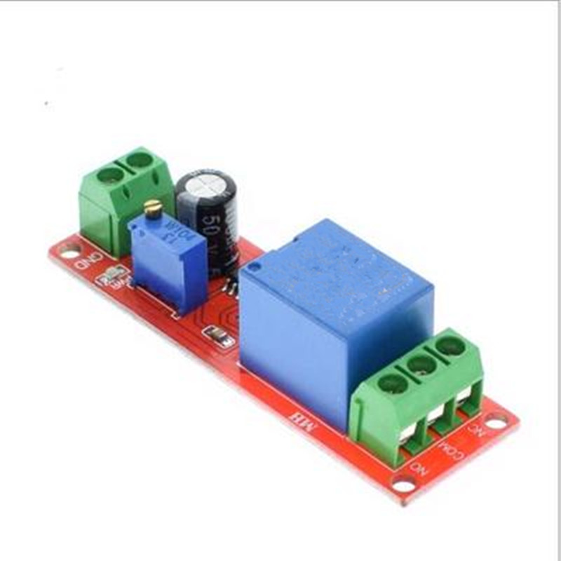 1pcs DC 12V Delay relay shield NE555 Timer Switch Adjustable Module 0~10S ne555d ne555 sop8