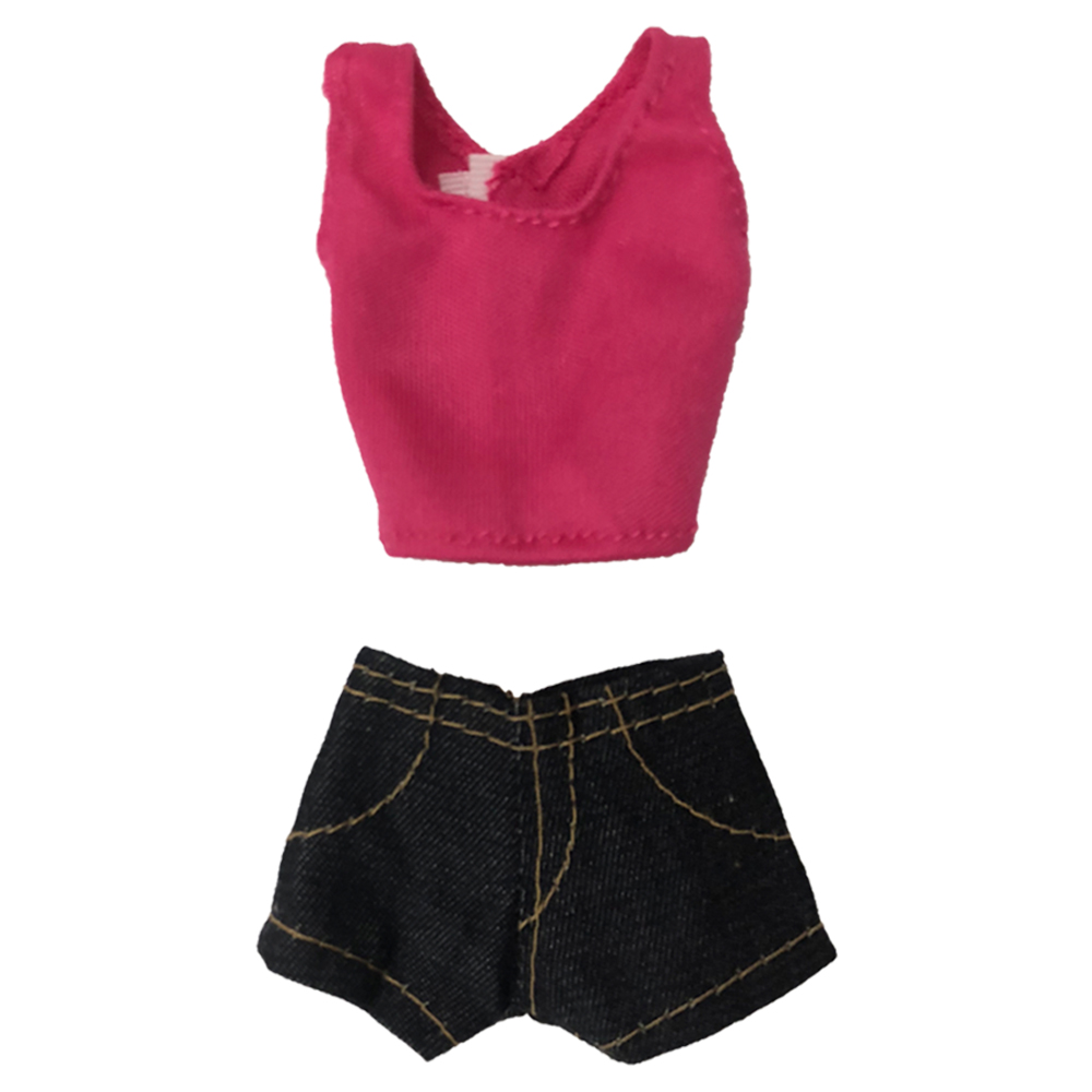 NK One Set Outfit Fashion Handmade Casual Style Clothes + Trousers For Barbie Doll Girls Birthday New Year Gift For Kids 72E