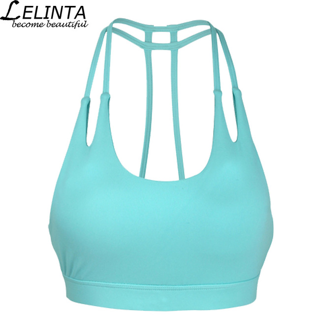 ba0320daa LELINTA Fitness Yoga Sports Bra Gym Running Tank Top Athletic Vest  Underwear Push Up for Womens Shockproof Strappy Sport Bra