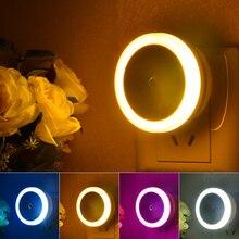 Plug In Sensor Light EU US Plug Sensor Night Light Luminaire Lamp Led Nightlight Children Bedroom