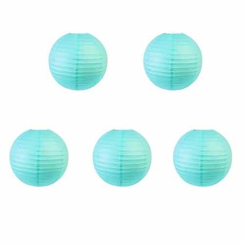 20cm blue lanternx5 Mermaid party plates 5c64f5cb300db