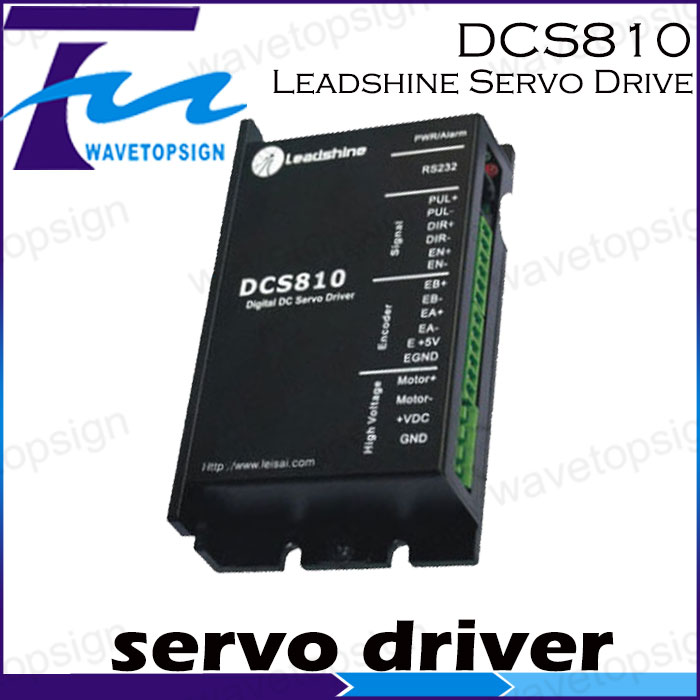 Leadshine DCS810 Brushed Servo Drive with Max 80 VDC Input Voltage and 20A Peak Current leadshine dcs810 brushed servo drive with max 80 vdc input voltage and 20a peak current
