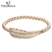 Todorova Vintage Accessories Wholesale Charms Leaf Feather Rings for Women Fashion Jewelry Christmas Gifts