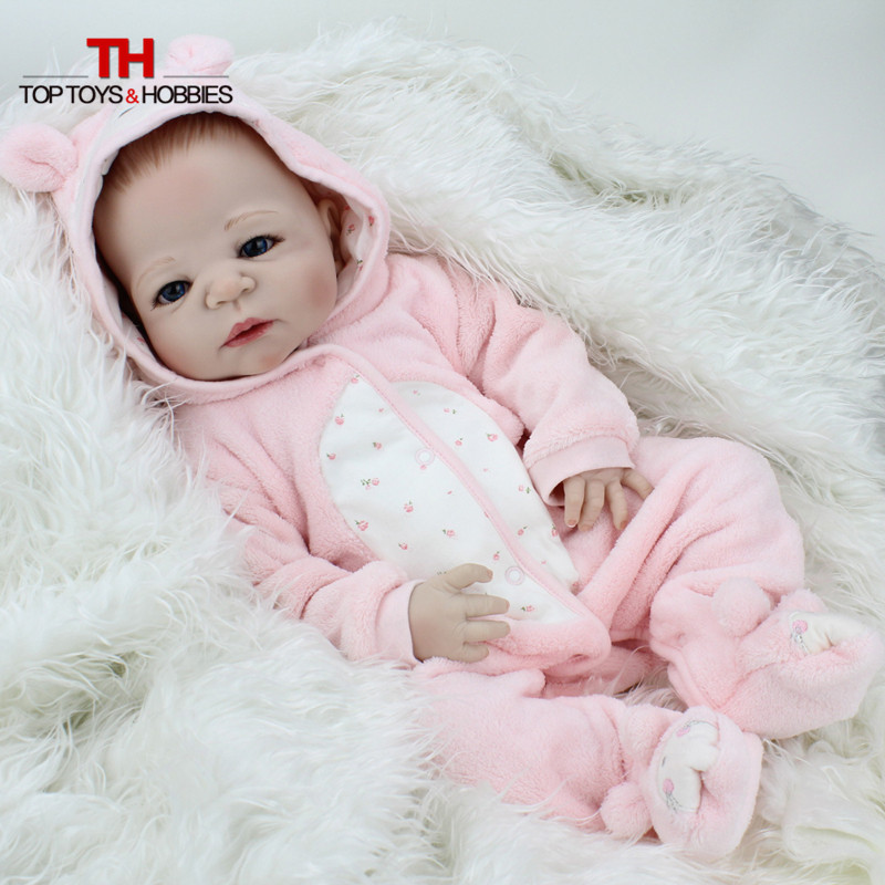 NPKDOLL 22 Inch Full Body Silicone Reborn Dolls lifelike Newborn Babies Doll for Kids Toys Gift Bonecas Boy Baby Christmas Gift christmas gifts in europe and america early education full body silicone doll reborn babies brinquedo lifelike rb16 11h10
