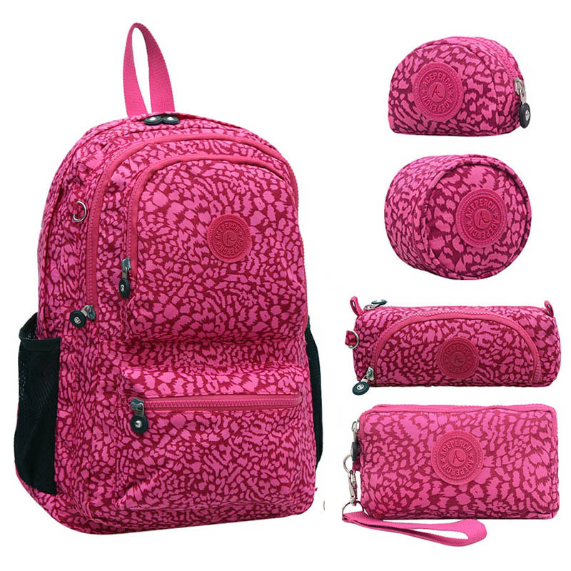 5 PCS/Set New Original School Backpack for Teenage Girl Mochila Feminina Backpack Waterproof Women Laptop Nylon Travel kiple рюкзак waterproof nylon backpack 10 travelbag mochila aimi919