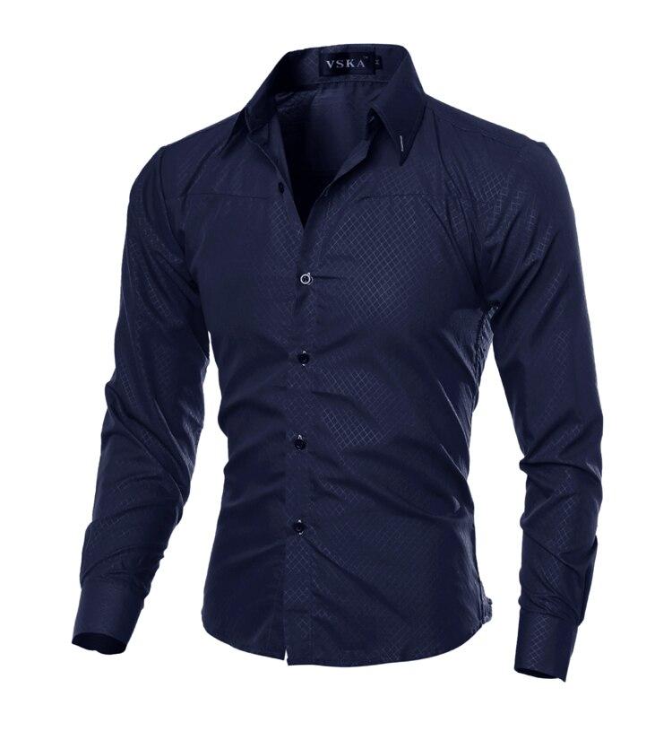 Мужская рубашка Camisas Hombre Vestir Slim